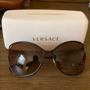 Oversized Versace sunglasses